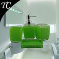 popular fantasia acrílico conjuntos de casa de banho de sabão do prato