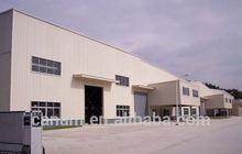 Modern truck accessible prefab steel structure warehouse/workshop