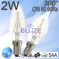 Filament Lamp E11 E14 B15 220V LED Diode 2W 200LM CRI>80Ra 360 Degree 100lm/w
