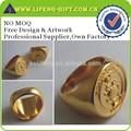 calidad de último diseño anillo de oro personalizado