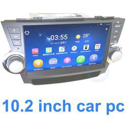 Navigation large screen auto radio gps car dvd 1 din OEM for Toyota Highlander