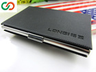 Promotion Black Leather ID/Business Card Holder/High Quality Leather Business Card Case&business & finance MR-L-033