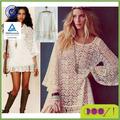 senhoras blusa de renda vintage hippie boho cigana fringe festival mini vestido de renda superior vestladies blusa de renda