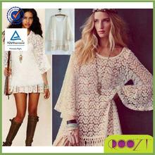 las señoras blusa de encaje vintage boho hippie gitana fringe festival mini vestido de encaje vestladies top blusa de encaje