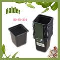 7.5*7.5*7.5cm ps black plastic pots for nursery plants