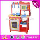2014 New wooden play kitchen, popular kids toy play kitchen, hot sale children set kids play kitchen W10C045R