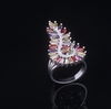 NEW 925 gemstone ring fashion leader jewelry threaded brass ring for women