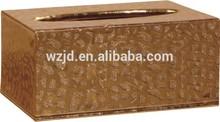 facial Napkin Holder Hotel Faux Leather Tissue Box