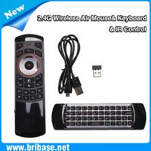 2.4G wireless remote control mini wireless qwerty keyboard with touchpad