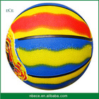 Multi-color Rubber Basketball,molten ball basketball,children size 1 basketball