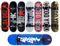7-ply wood color bamboo & fiber glass material cruiser skateboard