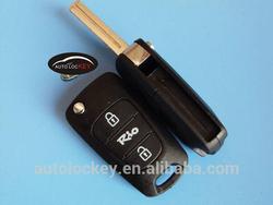 Hot sale car 3 button flip key case Kia Rio