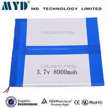 Ipad battery external battery for ipad mini 3.7v 8000mAh polymer battery pack