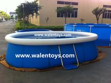 oval steel frame pool,easy set swimming pool
