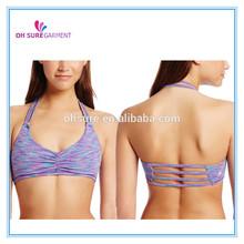 polyester/spandex digital printing fitness bra for women