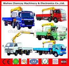 High perfessional unic truck mounted crane manufacturer 10 ton SQ10SK3Q telescopic boom truck mounted crane