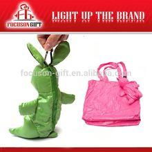 Portable Logo Printed rabbit shape foldable bags