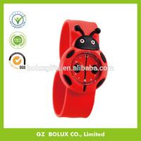 wholesale silicone slap band watch/kids silicone watch/novelty wristband watch