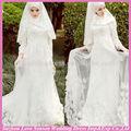 wd5073 newprecio precio de fábrica de alta calidad 2014 manga larga vestido de boda nupcialimágenes musulmana vestido de boda nupcial