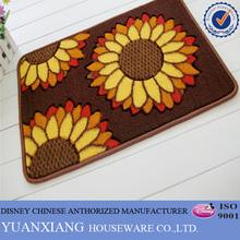 Latest design sunflower printing pp mat