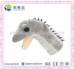 Funny plush dinosaur animal hand puppet