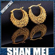 Vintage Earrings Women Gift Sale Fashion Jewelry Basketball Wives Round Fancy Hoop Earrings