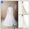 JJ3635 Newest Real Sample 2014 long sleeves muslim bridal wedding dress