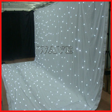 HOT WLK-2W White fireproof Velvet cloth White leds backdrop dj curtain/dj curtain stage curtain light