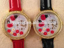 garden flower watch, cute leather watches, cheap watch wholesale