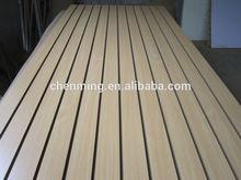 melamine MDF slotwall board for shop display