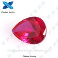 corindo natural forma de pêra corte ruby natural não aquecida ruby corundum rough