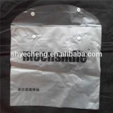 hot sale 100% boidegradable custom high quality customerized thin pvc button closure bag