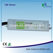 waterproof IP67 led driver 10W 20W 30W 50W 12V 24V 36V CE/ROHS