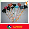 """china wholesale !!!hot sale 4"""" colored toilet plunger with 18"""" wooden handle"""
