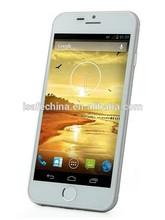 original android 2G+3G Quad core Goophone i6 smart phone 512MB ROM 12GB RAM MTK6582 2MP+13MP Camera battery 2000mah phone