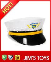 Plastic white captain hat air helmet safety helmet toys party helmet