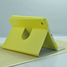 Newest Supply PC+PU Material Multicolour Stand 360 Degree Rotating for iPad Mini Leather Case