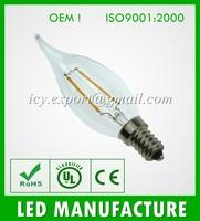 CE RoHS E14 Led 2W. Glass Cover LED Bulb
