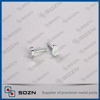 Galvanized flat head threaded reducing screws