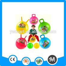 Soft bouncy niños bolas con asas para montar a caballo