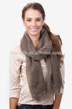 high quality solid tan color cotton shawl with raining rhinestones
