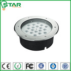 RGB 12v IP67 outdoor 18w led inground recessed lights