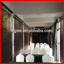 restaurante de lujo decoración del pvcimitación madera de cebra persianas de la ventana listo austriaco hecho cortinas persianas