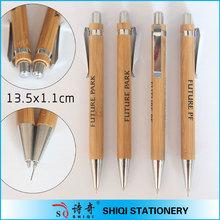 Eco bamboo material ball pen and pencil