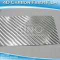 الصين مصنع السيارات سيارات ملصق ملصق الألياف الكربونية ورقة 4d الكروم الفضي