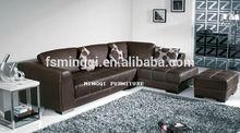 2014 beautiful comfortable sectional leisure leather sofaCZ-26056