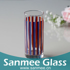 Stripe Series Purple Clear Glass Drinking Cup