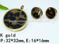 venta al por mayor 2014 nuevo producto de leopardo shap redonda de acero inoxidable conjuntos de joyas