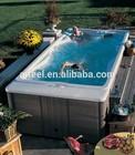 Hot Sale Acrylic outdoorspa hot tub /freestanding swim spa used