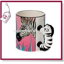 11oz Sublimation Mug with Animal Handle